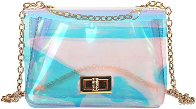 Marchome Holographic Laser Clear Crossbody Purse Shoulder Bag For Women Hologram Small Handbags Amazon Com