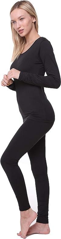 Ladies Black Thermal Leggings Warm Soft Base layer pants 8//10 12//14 16//18
