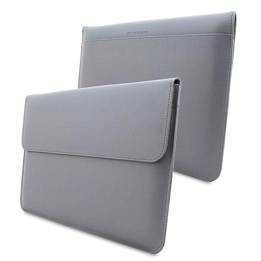 8 opinioni per Custodia per Macbook Air e Pro 13, Snugg™- Custodia in Ecopelle Grigia di Alta