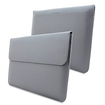 on sale 5312b b1bd1 Macbook Air 11 Case, Snugg™ - Leather Sleeve with Lifetime Guarantee (Grey)  for Apple Macbook Air 11