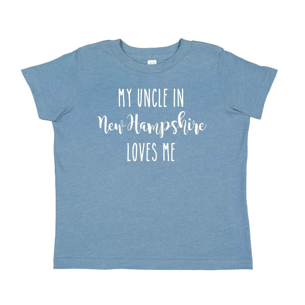 Toddler//Kids Short Sleeve T-Shirt My Uncle in New Hampshire Loves Me