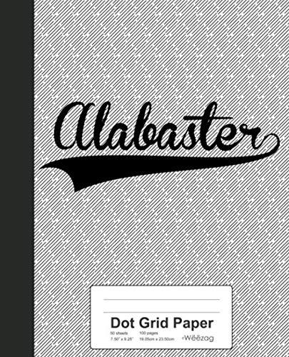(Dot Grid Paper: ALABASTER Notebook (Weezag Dot Grid Paper)