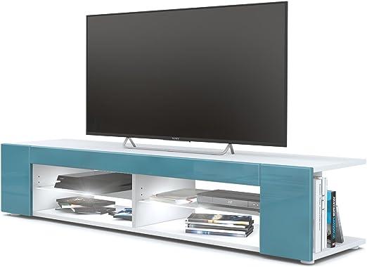 Mesa para TV Lowboard Movie, Cuerpo en Blanco Mate/Frentes en ...