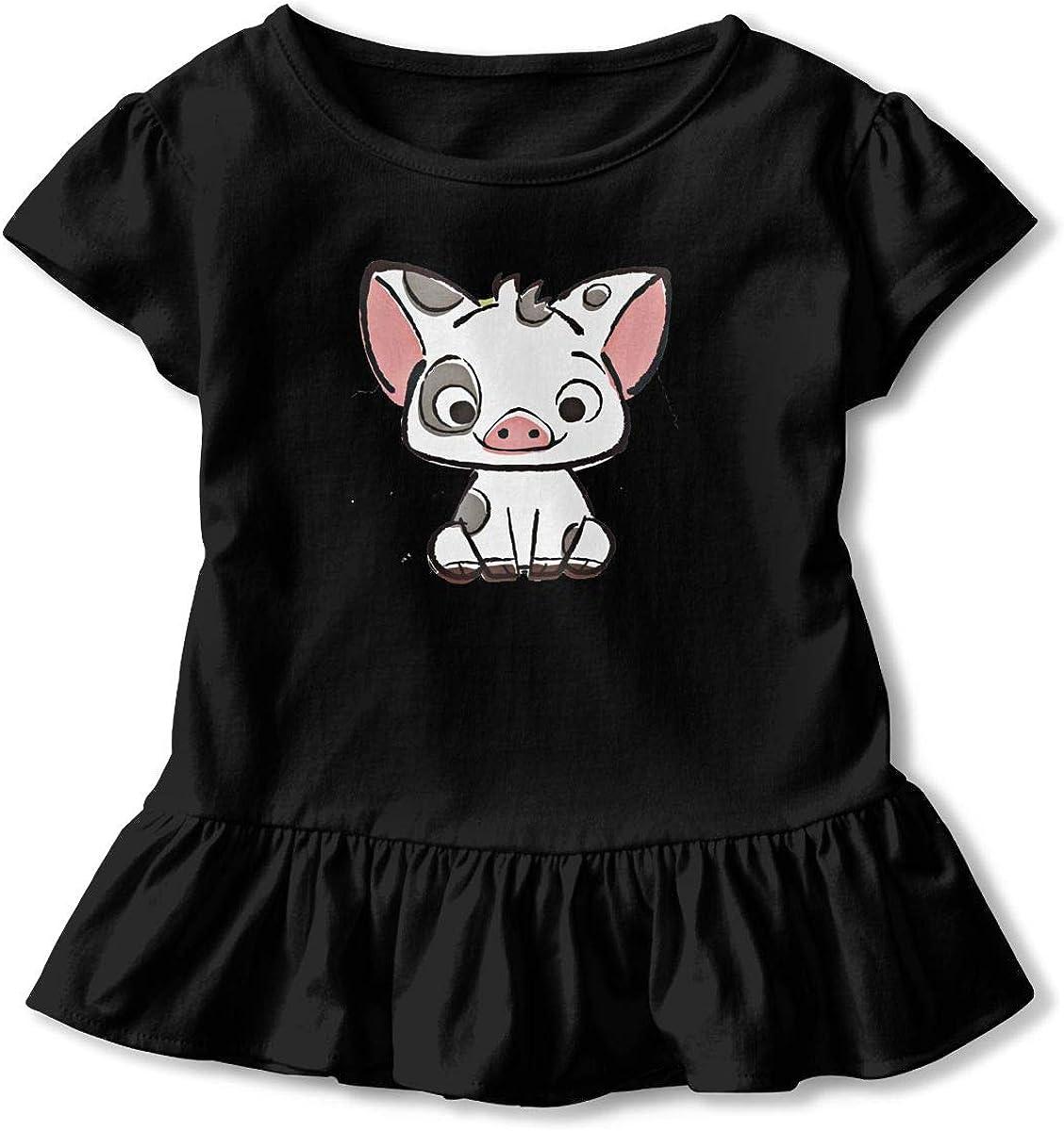 Flamingo Playing Soccer Art Toddler Baby Newborn Short Sleeve Tee Shirt 6-24 Month Cotton Tops