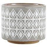 Rivet Geometric Ceramic Planter, 6.5