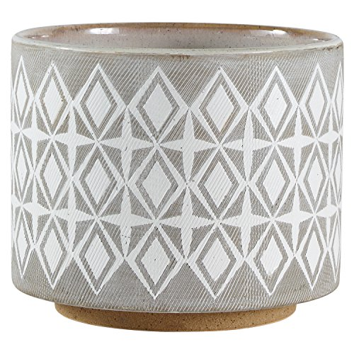 Medium Planter - Rivet Geometric Ceramic Planter, 6.5