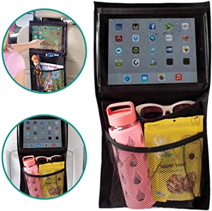Patabit Organizador Asiento Coche Protector Asiento Coche Contenedor De Almacenamiento Porta Tablet Dimensiones 30x52 Cm Portaobjetos
