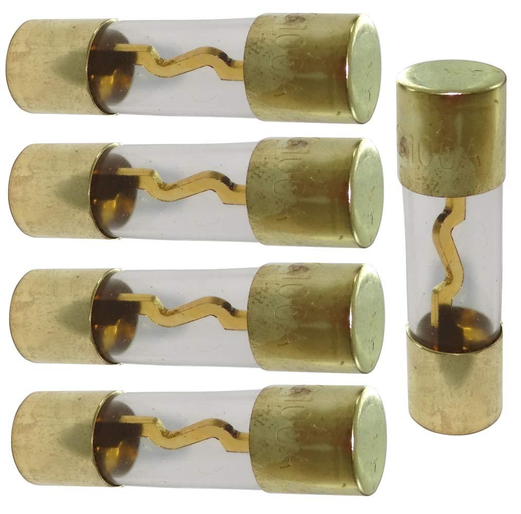AERZETIX: Lot de 5 fusibles AGU 100A pour Sono Auto Voiture ampli sub subwoofer C40691 C40691 / DS4