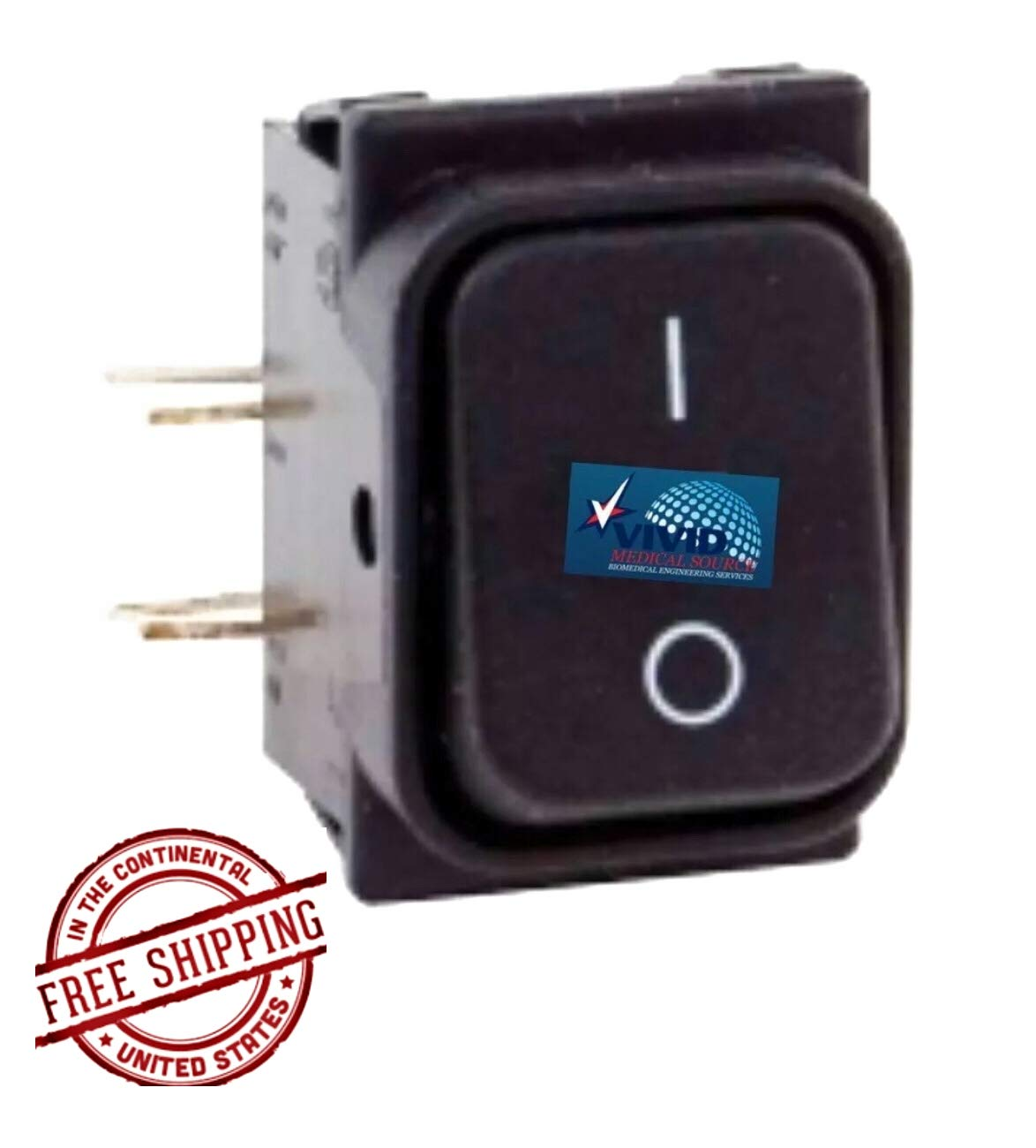 Power Switch for Gendex for Model 765 DC GXS017 by Replacement Parts Industries RPI