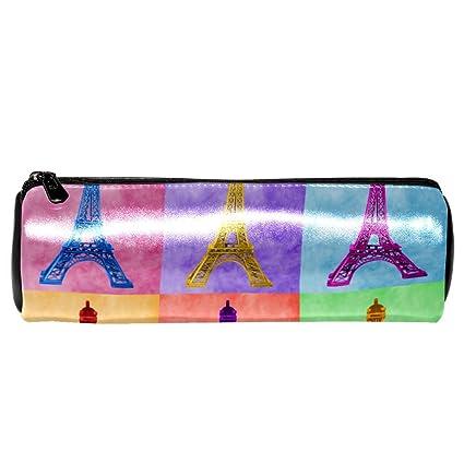 EZIOLY - Estuche de piel con diseño de torre Eiffel con ...