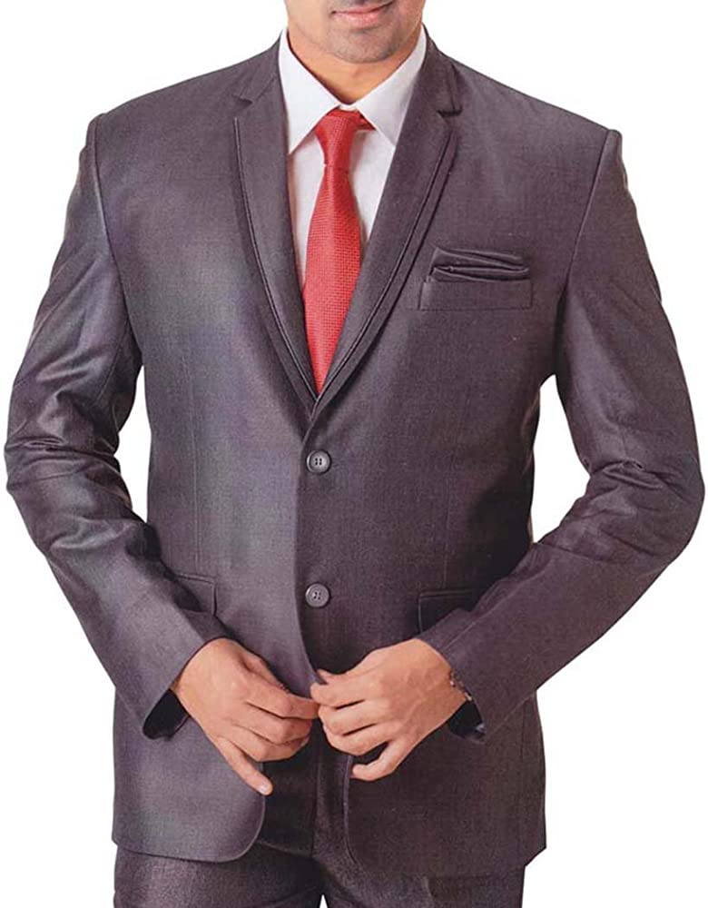 INMONARCH Hombres 5 pc Smoking Traje Gris de Aspecto Moderno ...