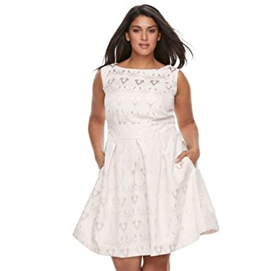 Chaya Women\'s Plus Size High Neck Lace Dress at Amazon Women\'s ...