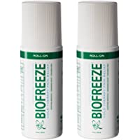 Biofreeze Pain Relief Gel for Arthritis, 3 oz. Roll-On Cold Topical Analgesic, Fast Acting Cooling Pain Reliever for Muscle, Joint, and Back Pain, Original Green Formula, Pack of 2, 4% Menthol