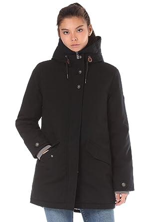 Lakeville Mountain Damen-Mantel TAUANUI   Weich gefütterte Winter-Jacke mit  Kapuze und modischen Applikationen  Amazon.de  Bekleidung 540798b2b7