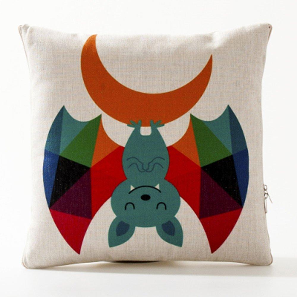 可愛い動物印刷投げ枕within a 110 x 150 cm Blanket B019H9MARU