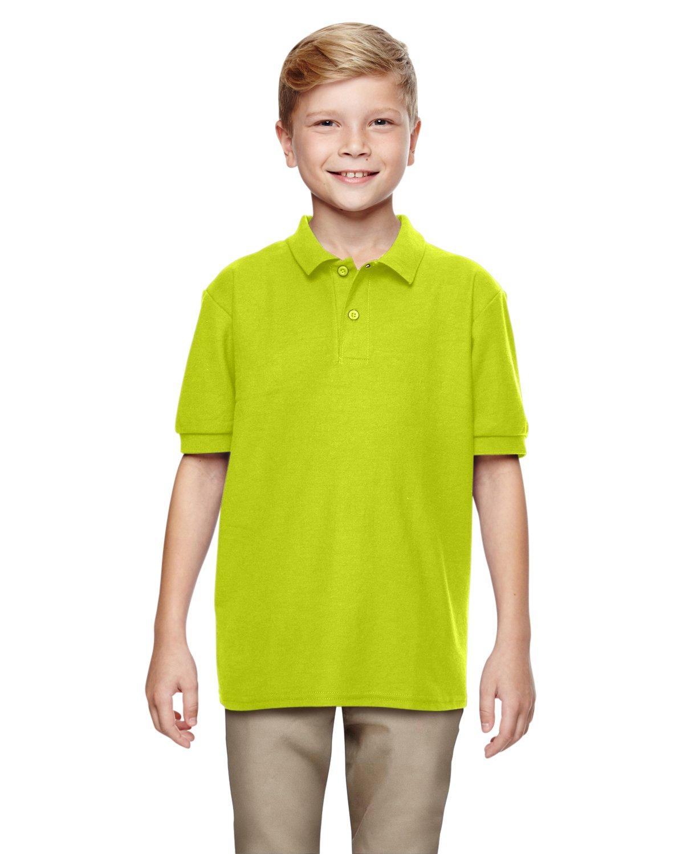 Gildan Boys DryBlend 6.3 oz. Double Piqué Sport Shirt (G728B) -Safety GRE -XL-12PK
