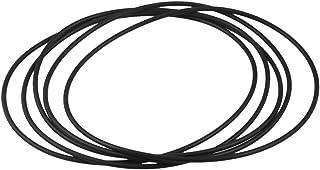 140mm x 3.1mm x 133.8mm flessibile in gomma o anello di tenuta rondella nero 5pz