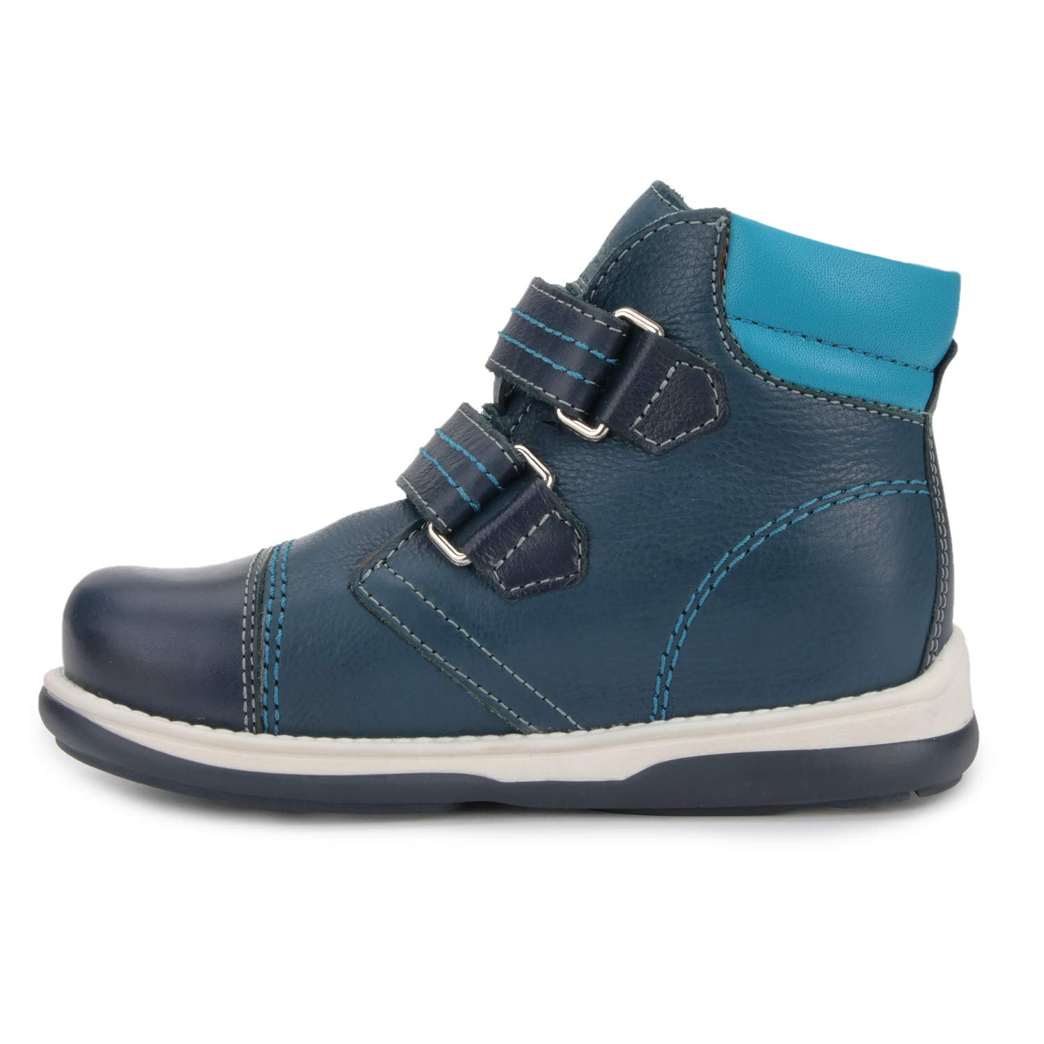 Memo Alex Boys' Corrective Orthopedic High-Top Leather Boot Diagnostic Sole, Navy Blue, 22 (6.5 M US Toddler) by Memo (Image #4)