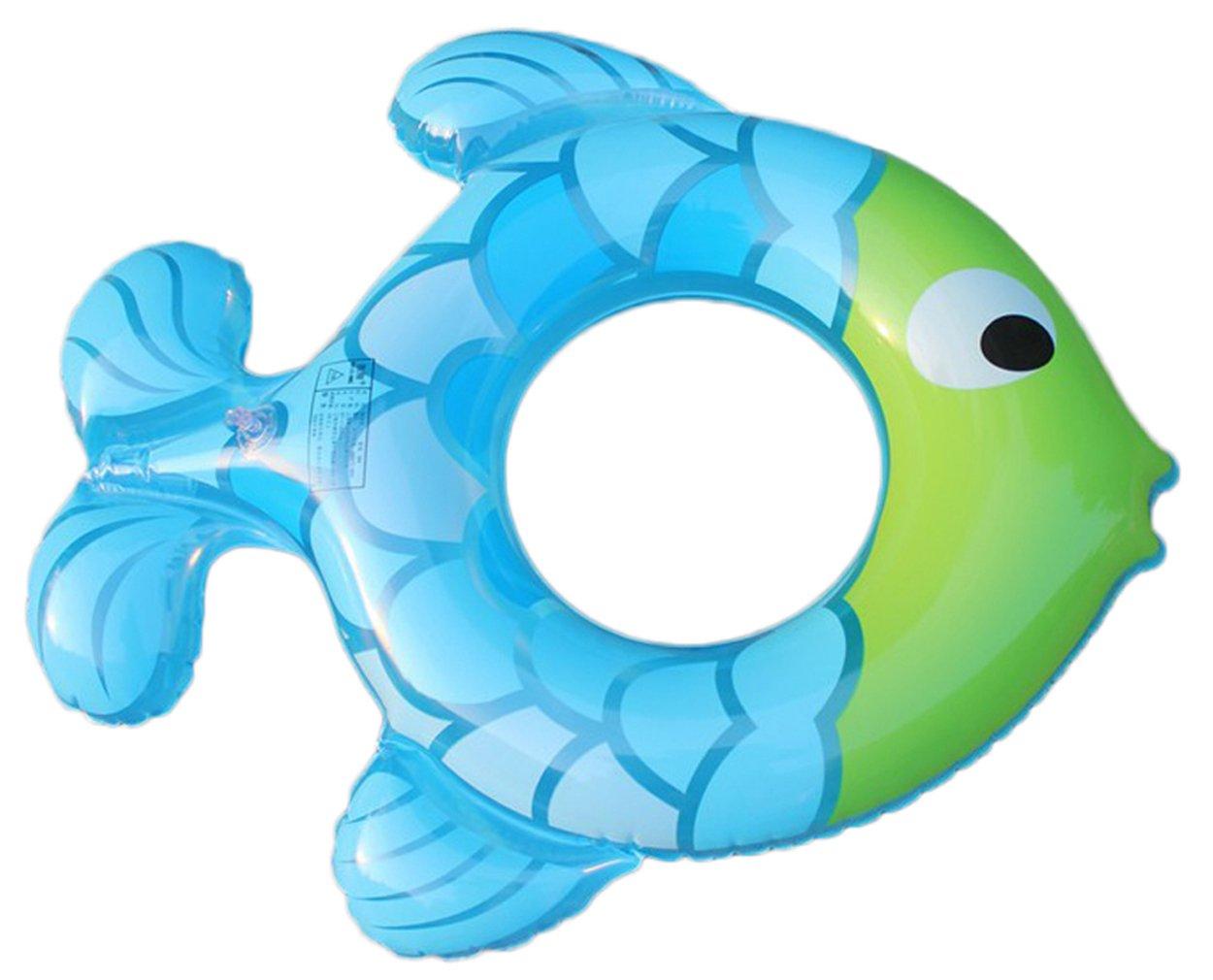 La vogue diseño con forma de niños peces flotador hinchable flotador flotador, Azul: Amazon.es: Deportes y aire libre