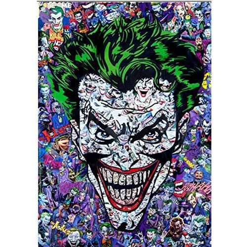 CNIAO DIY Diamond Mosaic Joker Batman Halloween Gifts Diamond Paintings Cross Stitch Kits Diamond Embroidery New Patterns-50x70cm]()