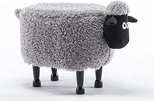 White Sheep Step Stool Childs Childrens Wooden Stool