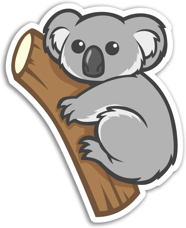 2 x 10cm Koala Bear Vinyl Stickers - Australia Fun Sticker Laptop Luggage #17194 (10cm Tall)