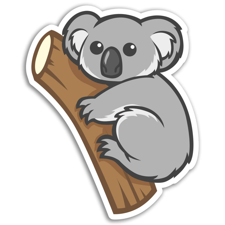 10 cm de altura Australia diversi/ón etiqueta de equipaje port/átil # 17194 2 x 10 cm oso de koala pegatinas de vinilo