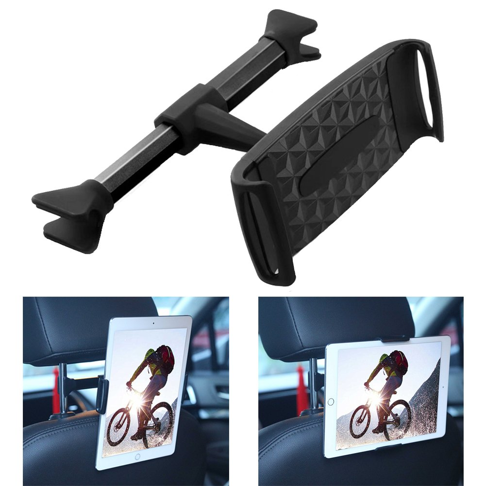 Car Backseat Headrest Phone Holder Car Headrest Mount Rotatable Universal Organizer For Smartphone Accessories Robe Hooks