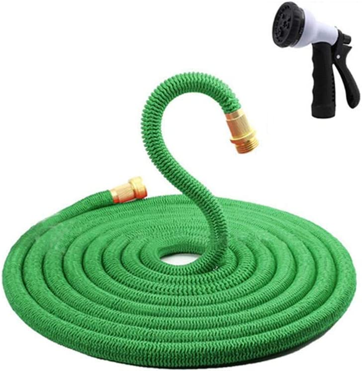 (Green)100FT Expanding Flexible Water Hose Pipe Home Garden Hose Watering style,Black