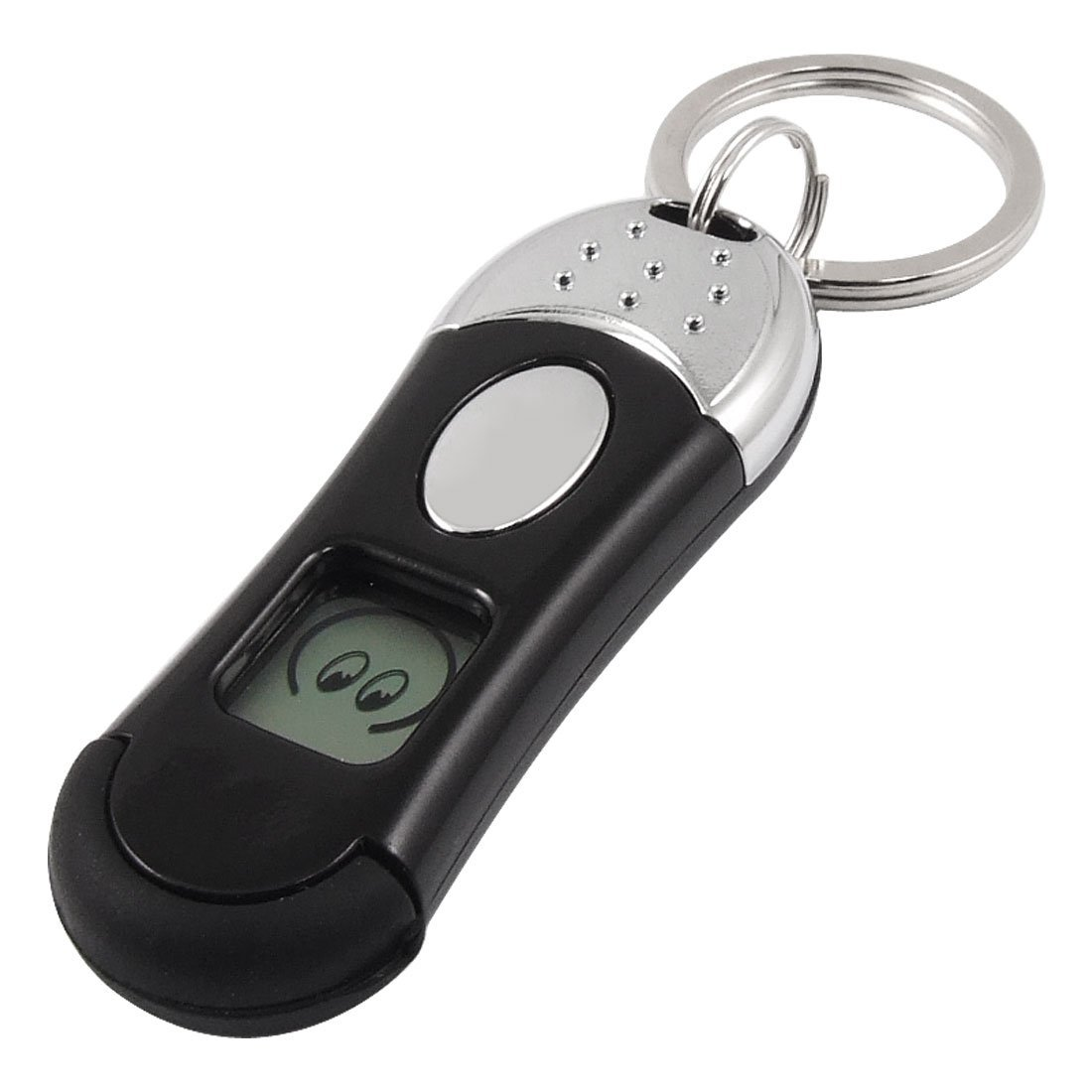 sourcingmap Contact Button Anti-Static Elimination Discharger Keyring Black