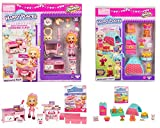 Happy Places Shopkins Season 4 | Beary Delicious Cooking Class Welcome Pack & Cozy Kitty School Camp Decorator's Pack Bundle with Coco Cookies