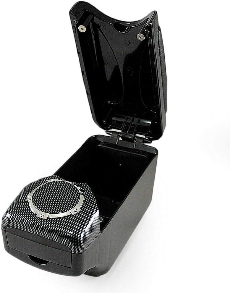 Universel 48007 Accoudoir Central Console Accessoire de Rangement et Repose-bras avec Compartiment Organiseur Pi/èce D/étach/ée dInt/érieur de Voiture Carbone