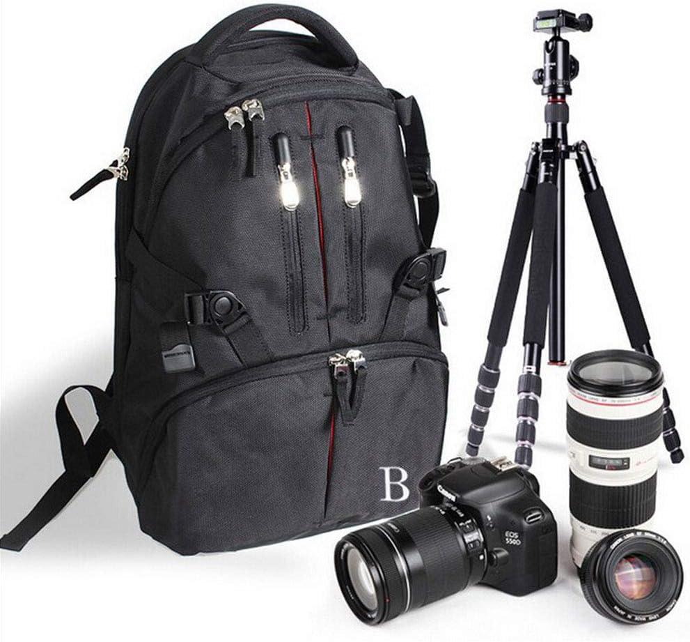 WRMING Profesional Mochila C/ámara R/éflex DSLR Mochila Bolsa Impermeable Ordenador Tr/ípode Almacenamiento de Lentes Ajustable Compatible con Canon Nikon M/ás R/éflex C/ámaras Digitales