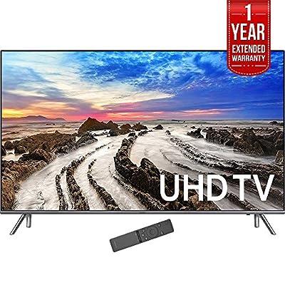 "Samsung 74.5"" 4K Ultra HD Smart LED TV 2017 Model (UN75MU8000) with 1 Year Extended Warranty"