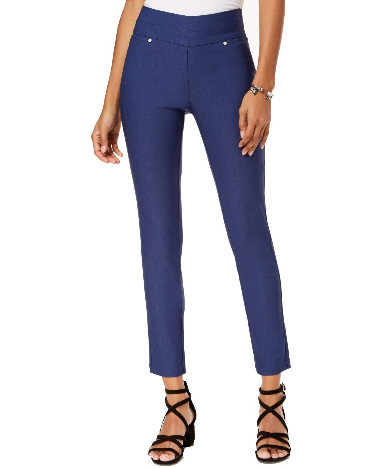 XOXO Women's Jr Colored Pull-On Skinny Pants Blue Depths 4