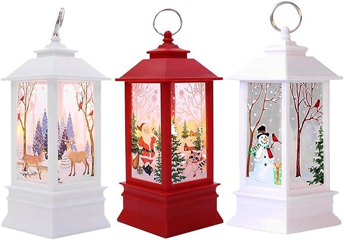 3PC Adornos Navidad Originales Rusticos con Luz LED Velas Decoracion para Mesa Casa: Amazon.es: Ropa y accesorios