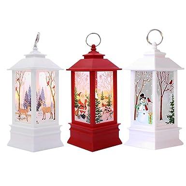 d0d0b1fad 3PC Adornos Navidad Originales Rusticos con Luz LED Velas Decoracion para  Mesa Casa  Amazon.es  Ropa y accesorios