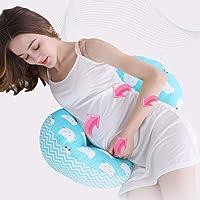 K&G Schwangerschaftskissen, Side Sleeper Schwangerschaftskissen - Bauchkissen für Schwangere, Taillenkissen für Schwangere, Baby-Stillkissen - Abnehmbarer und waschbarer Baumwollbezug