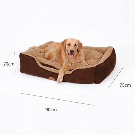 GJ@ + Pet Kennel Cat Nest Desmontable y Lavable Cuatro Estaciones ApplySmall Perro Cama Mat Dog Room, Brown, 90 * 75cm ##: Amazon.es: Hogar