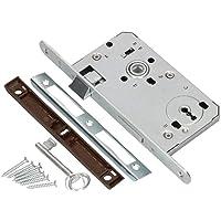 KOTARBAU® Insteekslot 72 / 55 mm DIN links kleurrijke sleutel slot deurslot met tegenplaat staal topkwaliteit roestvrij…