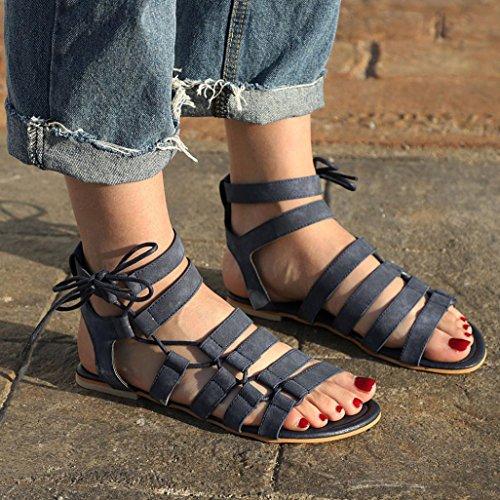 Toe Femme Drole Tongs Sandales Femmes Peep Femme Gladiator BohèMe Flat Chaussures Beautyjourney Sandales Cuir Talons Noir Mule Sandales 1Un5Zxq