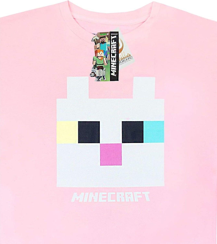 T-Shirt da Giocatore T-Shirt di Minecraft Kitty Front Tie Girl