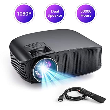 Proyector portátil LED 5000 Lux 1080p Compatible 2000: 1 Contraste ...
