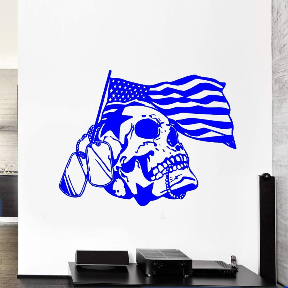 zqyjhkou Flag Skull Star War Pegatinas de Pared para Sala de Estar ...