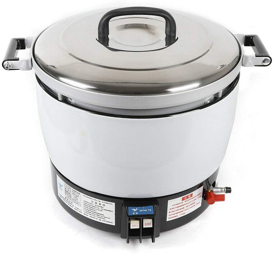 Heavy Duty Electric Pressure Commercial Rice Cooker 2.8Kpa Gas Pressure Rice Cooker, 23L Capacity Natural Gas Rice Cooker with Non-Stick Pan Suitable for Factories, Restaurants