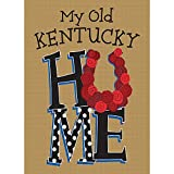 My Old Kentucky Home Rustic Taupe 13 x 18 Rectangular Small Garden Flag