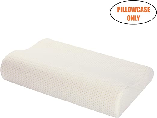 Memory Foam Deluxe Contour Pillow with Cover 18 x 11 Inches
