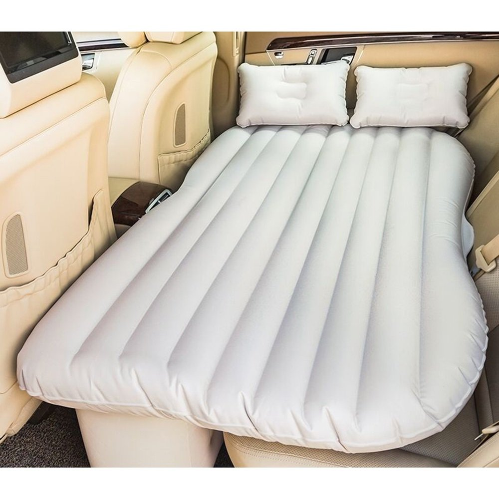 YZY Auto Schlafen Bett Camping Aufblasbare Kissen Auto Matratze Auto Hinten Luftbett SUV Reisebett Auto Bett (Farbe : Beige)