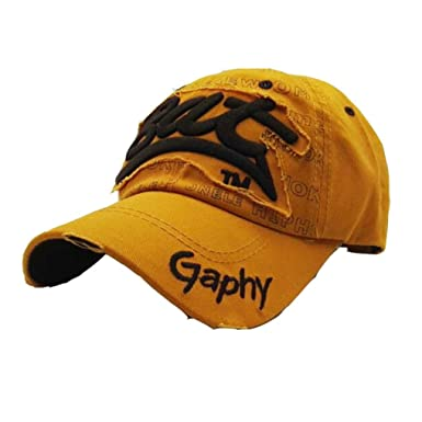 ☀ Gorras de Béisbol Bordado Impresión de Cartas,Sombreros de Gorra de Verano para Hombres Mujeres Sombreros Casuales Hip Hop Absolute (Amarillo): ...