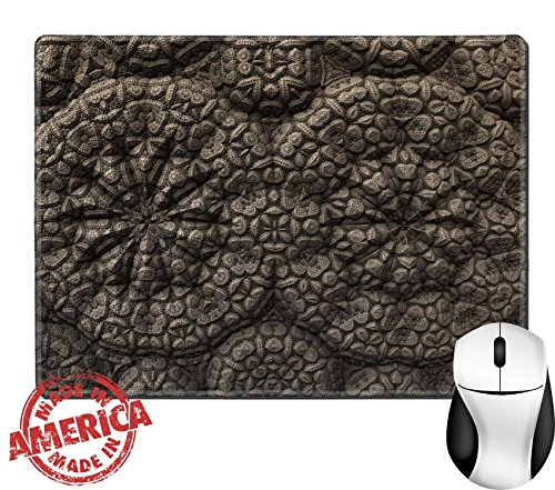 """Luxlady Natural Rubber Mouse Pad/Mat with Stitched Edges 9.8"""" x 7.9"""" IMAGE ID 31674935 A bizarre ornamentation of an ancient alien artifact"""